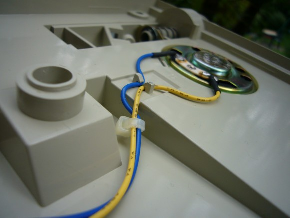 photo of the speaker wires